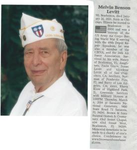 Mel's Obituary